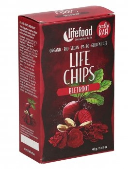 LIFE Chips din sfecla raw eco 40g                                                                    0